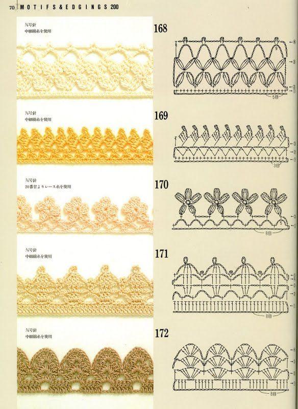 SOLO PUNTOS: Crochet Bordes | crochet | Pinterest | Puntos crochet ...