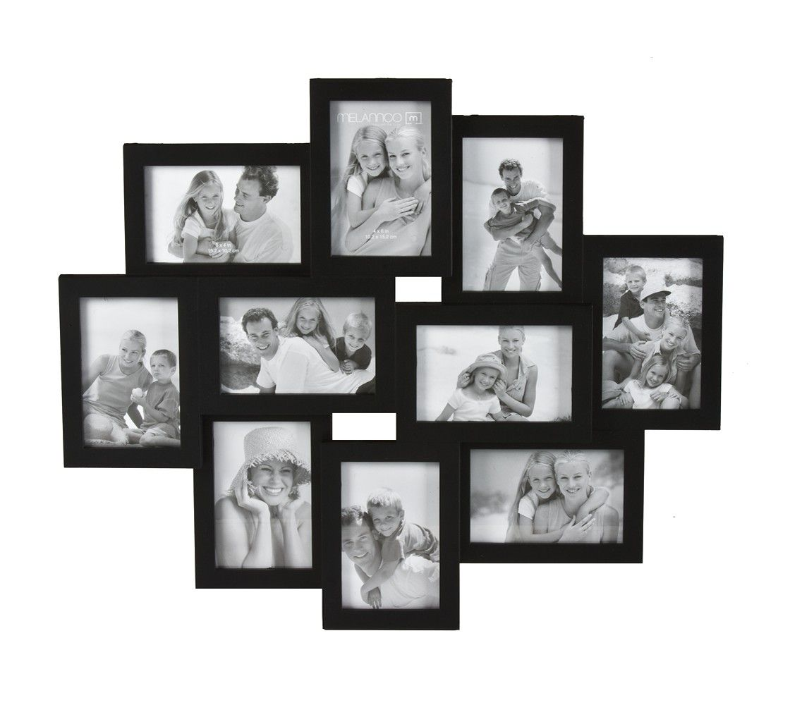 10 Opening Picture Frame Black 4x6 Picture Frame Wall Large Collage Picture Frames Collage Frames