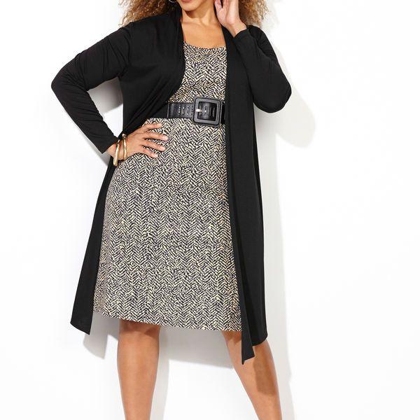 d28fadc0cb Neutral Ponte Jacket Dress-Plus Size Dress-Avenue