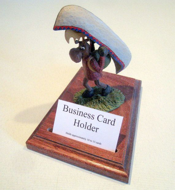 Moose with a canoe business card holder for your office or home moose with a canoe business card holder by the mens mall colourmoves