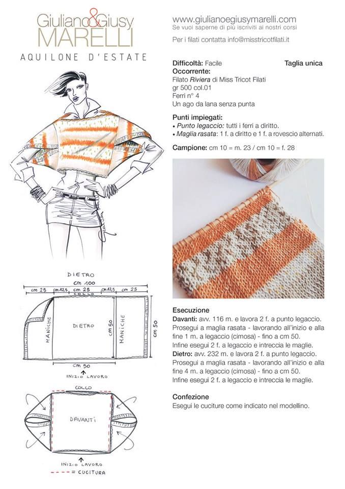 supermodello di giuliano marelli | knitting.. | Pinterest | Tejido ...