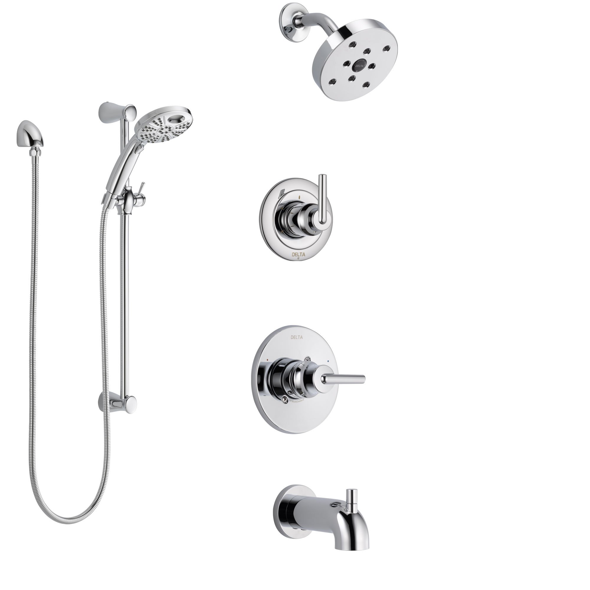 Delta Trinsic Chrome Finish Tub And Shower System With Control