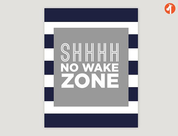 "Sophisticated Modern Nautical Nursery: ""No Wake Zone"" This Modern Nautical Art Print Will Add A"