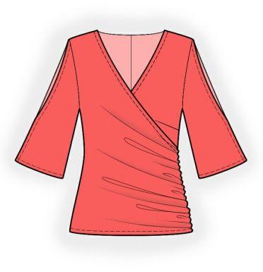Bluse - Schnittmuster #4178 | Lekala patterns | Pinterest | Bluse ...