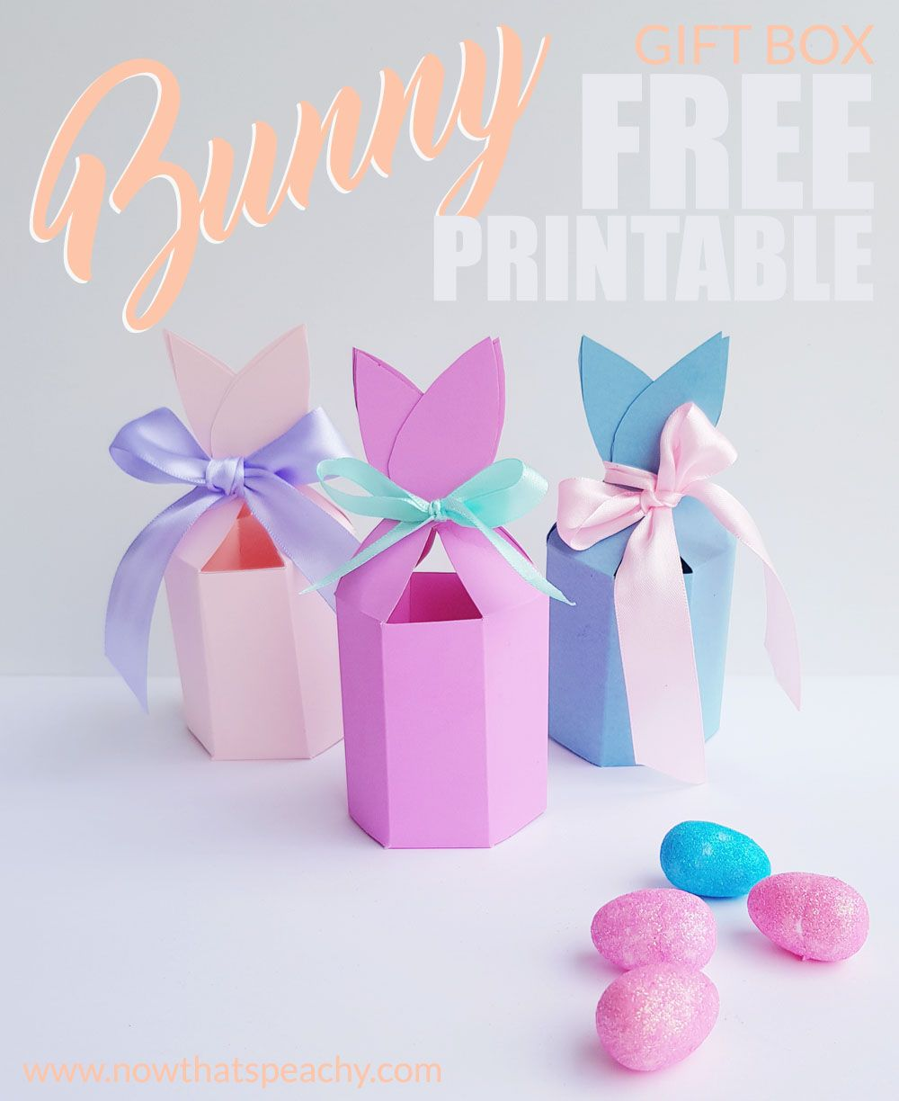 Free bunny ears gift box printable for easter easter bunny and free bunny ears gift box printable for easter negle Images