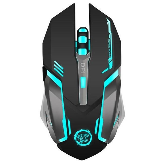 2400DPI 2.4GHz Rechargeable Silent Gaming Mouse For PC Laptop Computer Gamers