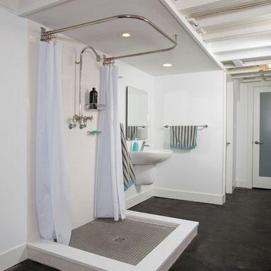 Unfinished Basement Ideas Design Ideas Pictures Remodel And Decor Basement Bathroom Remodeling Basement Bathroom Design Bathroom Floor Plans