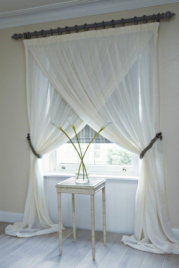 Le rideau voilage dans 41 photos rideaux pinterest maison rideaux et deco - Voilage pour chambre ...