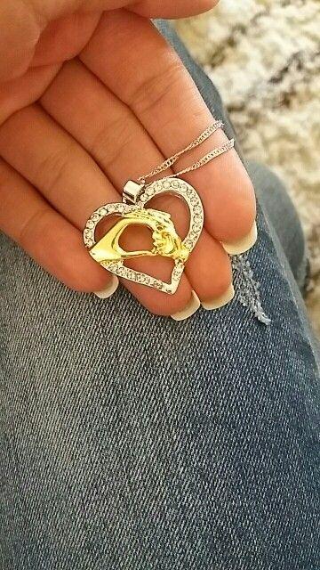 Fabulous Mother Baby Infinity Heart Pendant Infinity shape necklace