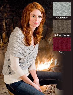 Irish Knitwear - Lambswool Shrug - Made in Ireland