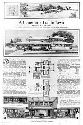 Wright Dibujos De Una De Sus Casas Vintage House Plans Unusual Buildings Prairie House