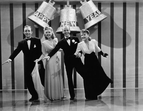 Bing Crosby, Marjorie Reynolds, Fred Astaire and Virginia Dale in 'Holiday Inn'