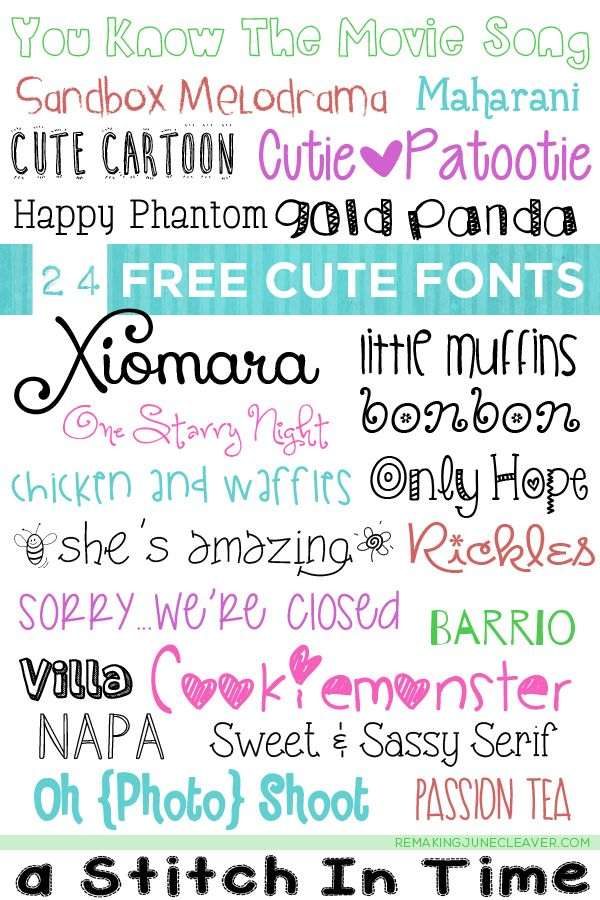 24 Free Cute Fonts For Your Craft Projects