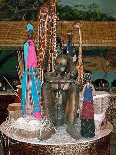 African Table Centrepiece