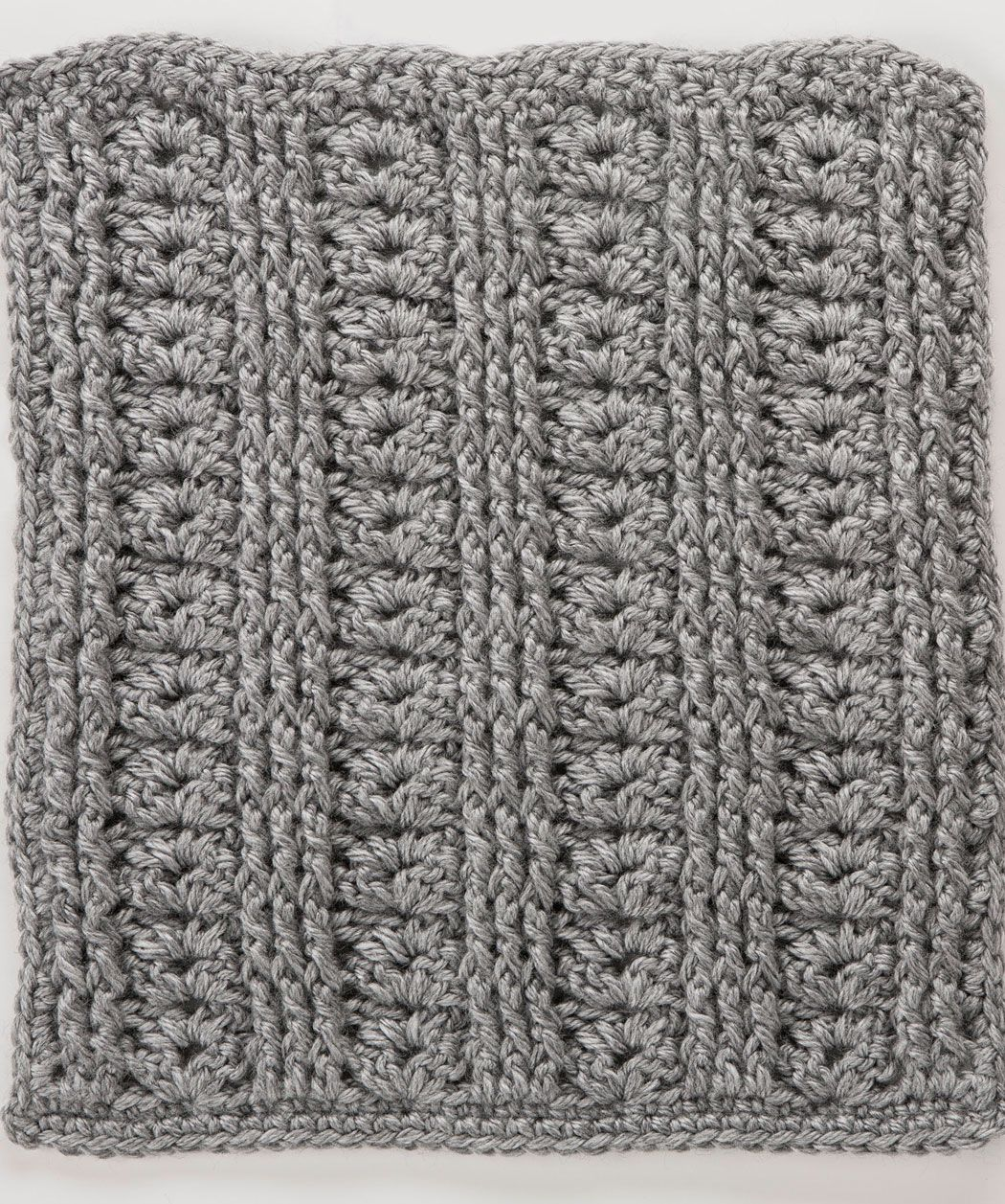 Shells with Front & Back Post Stitches Square, 10th free pattern for ...