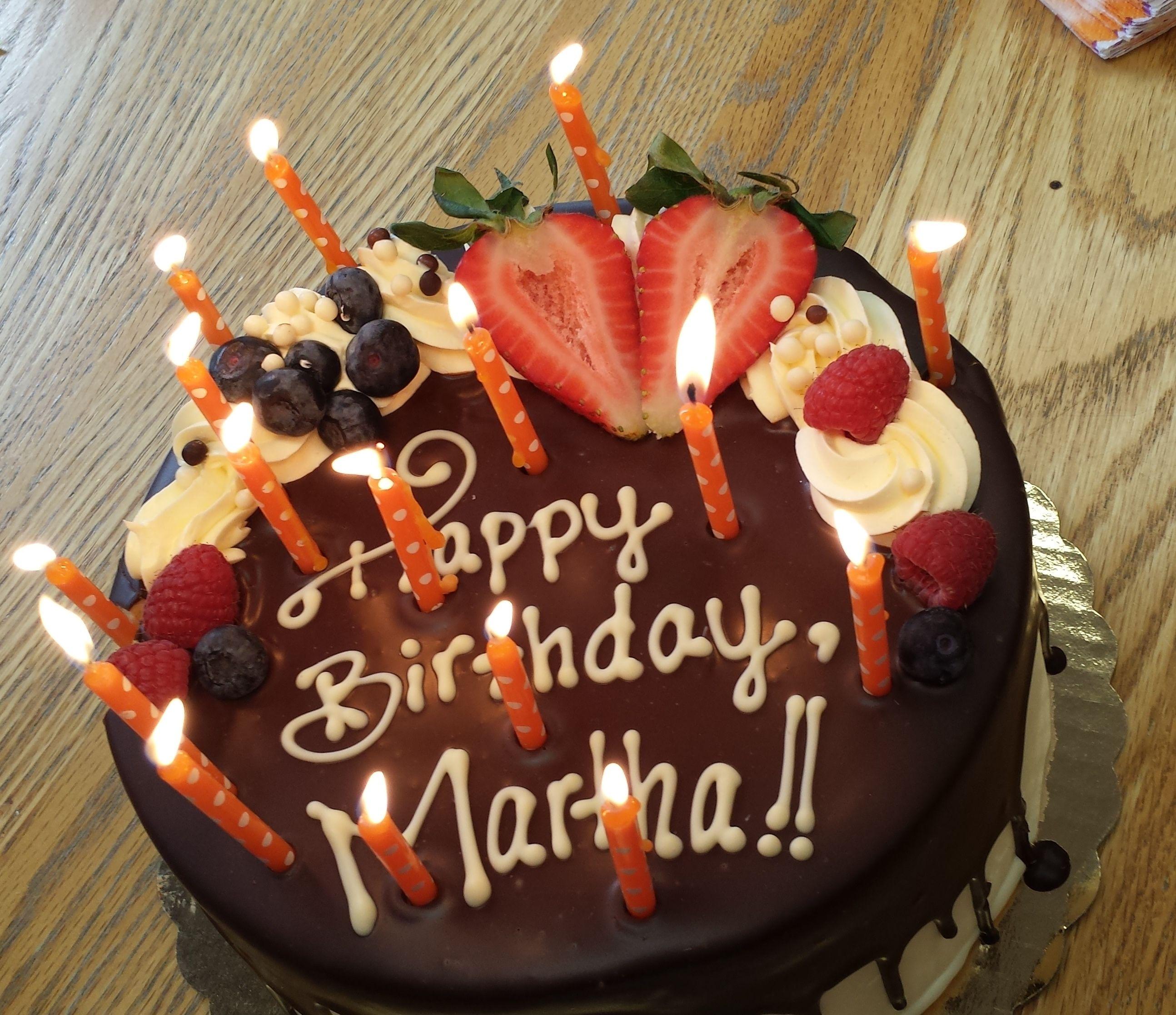 Happy Birthday Martha Cake Birthdays Group Desserts