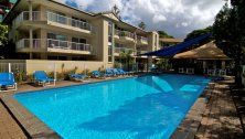 Paradise Grove Holiday Apartments - Main pool with shaded kiddies pool included - Burleigh Heads Holiday Apartments