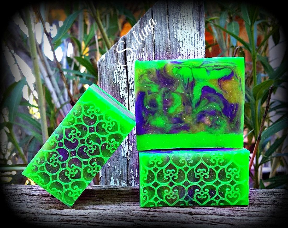 Plumeria Soap/Spring Soap/Nourishing Argan oil and Aloe Vera Soap by SolunaSoaps on Etsy