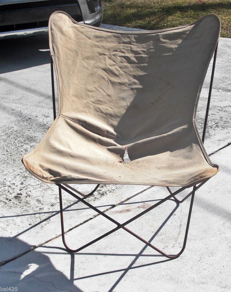 Perfect Vintage KNOLL HARDOY WROUGHT IRON BUTTERFLY CHAIR