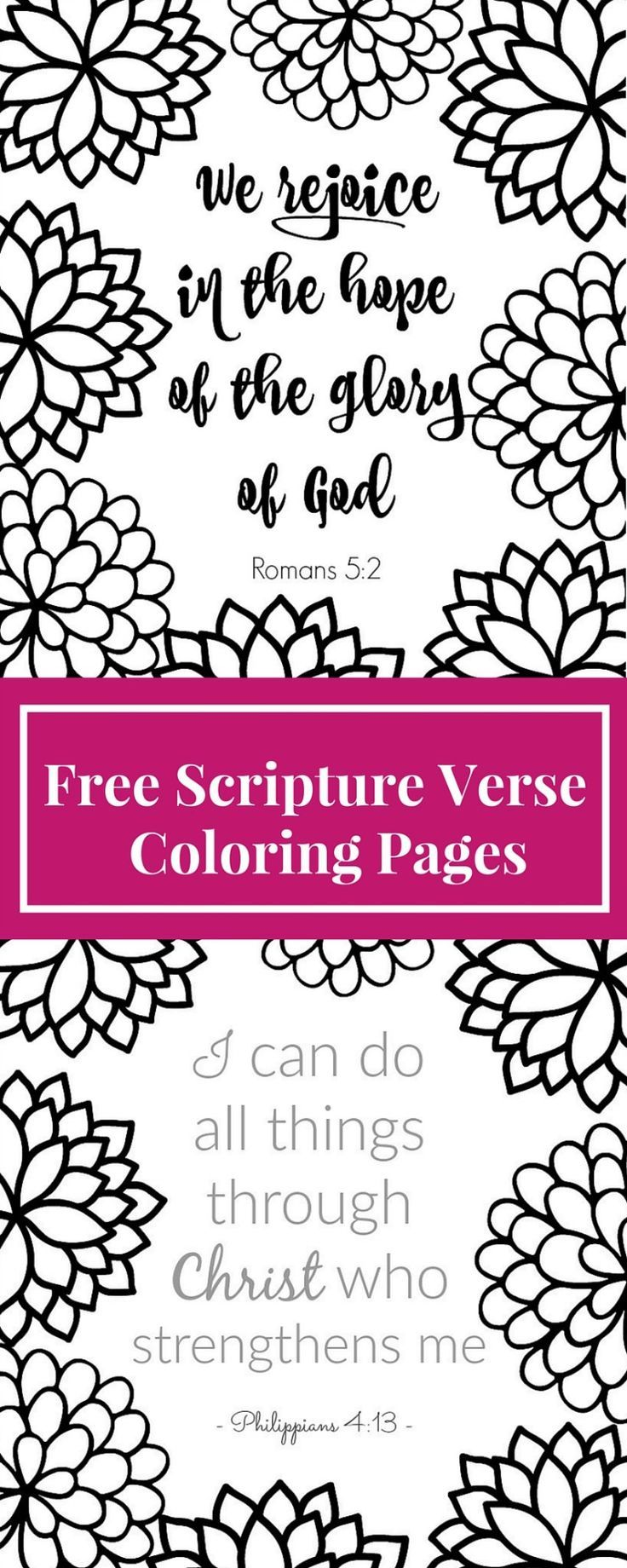 Free Printable Scripture Verse Coloring Pages | Adult coloring, Free ...