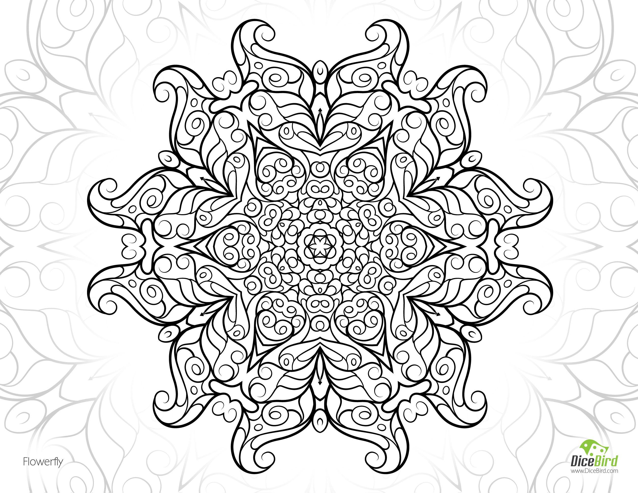 Flowerflydicebirdletterg geometric u mandala