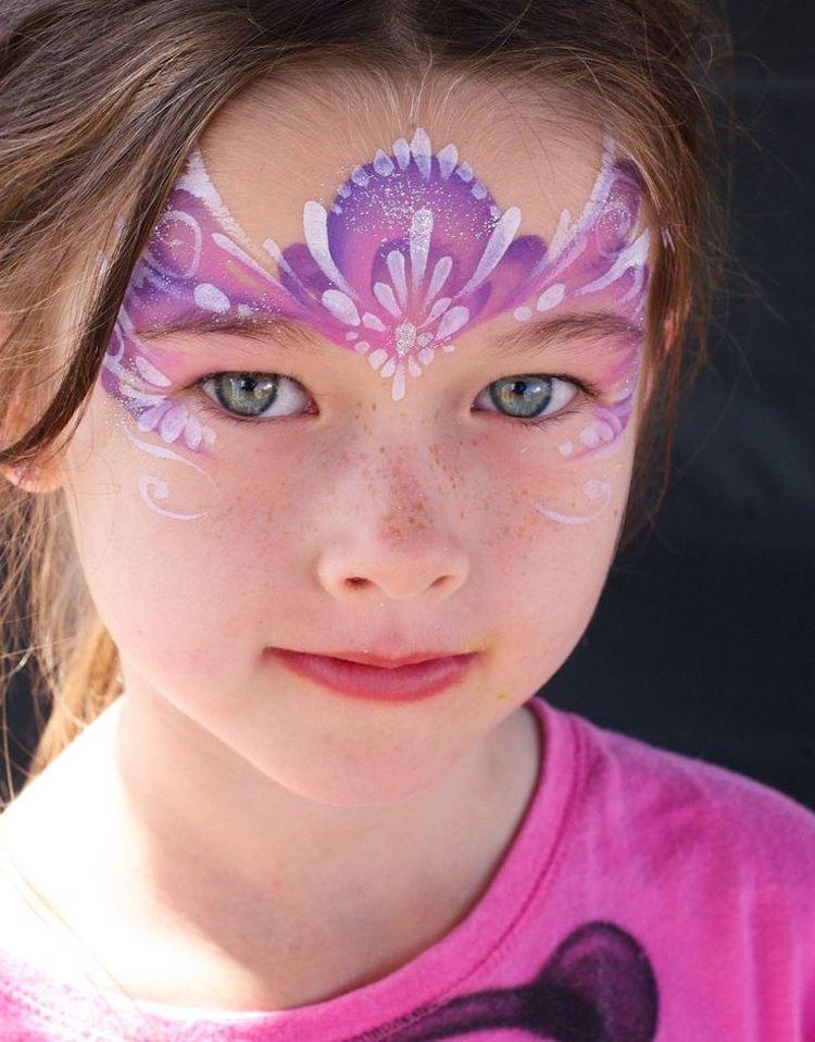 Prinzessin Schminken Blumen Blten Rosa Fasching Makeup