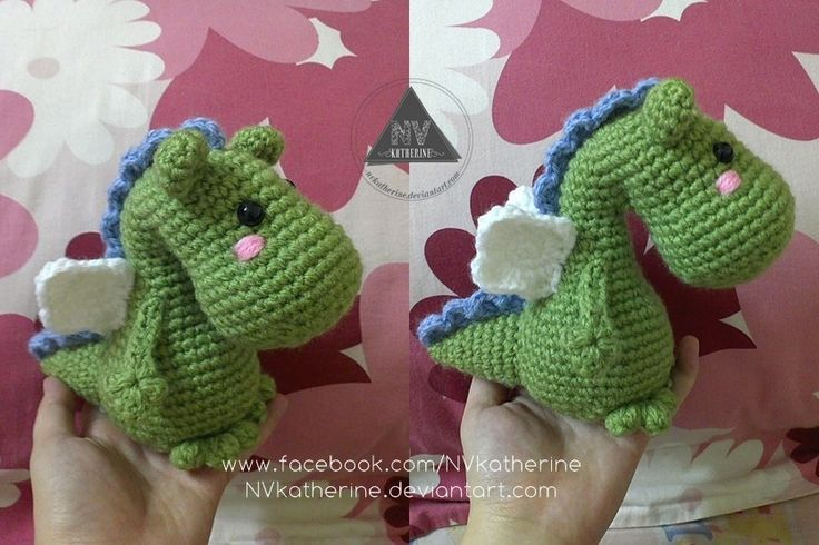 Amigurumi Dragon - FREE Crochet Pattern / Tutorial here: http://www ...
