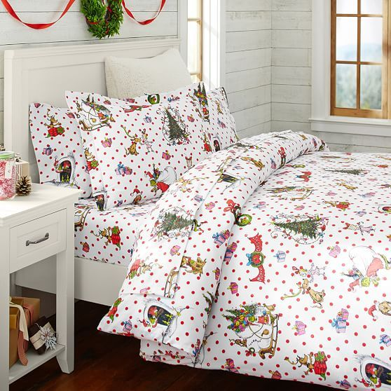 The Grinch Christmas bedding!