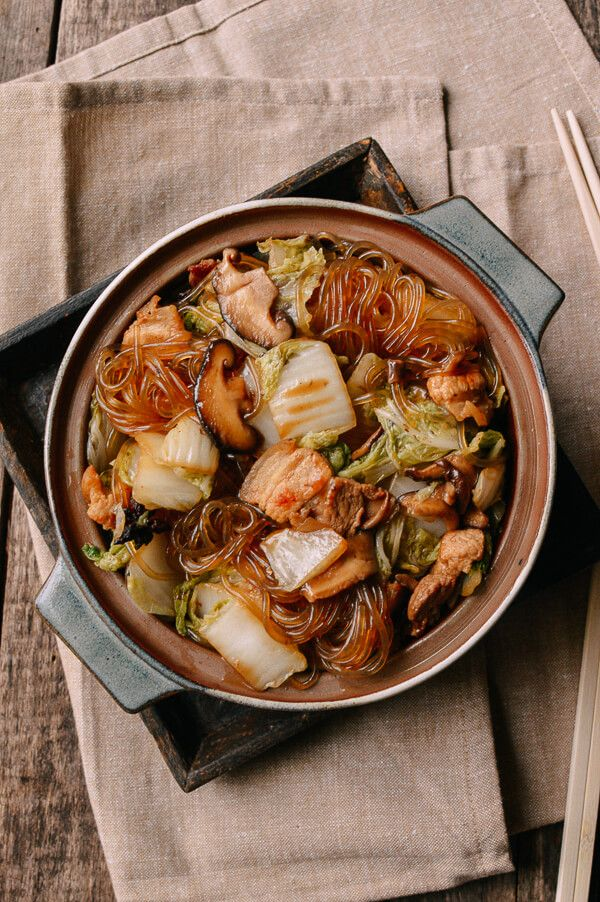 Braised glass noodles with pork napa cabbage recipe napa braised glass noodles with pork napa cabbage asian food recipeschinese forumfinder Image collections