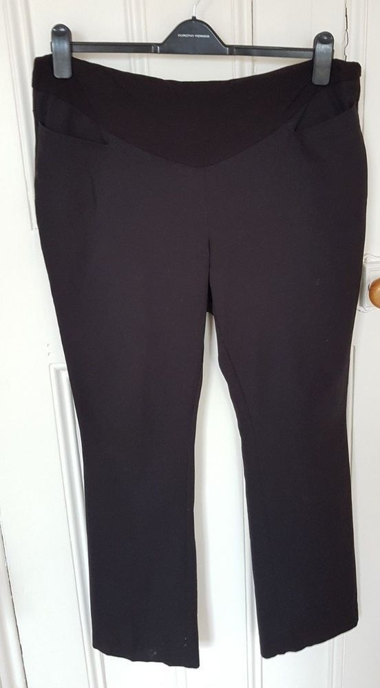 0e78348e77bc0 Next Black Maternity Over the Bump Trousers Size 14R Office #fashion # clothing #shoes #accessories #womensclothing #maternity (ebay link)
