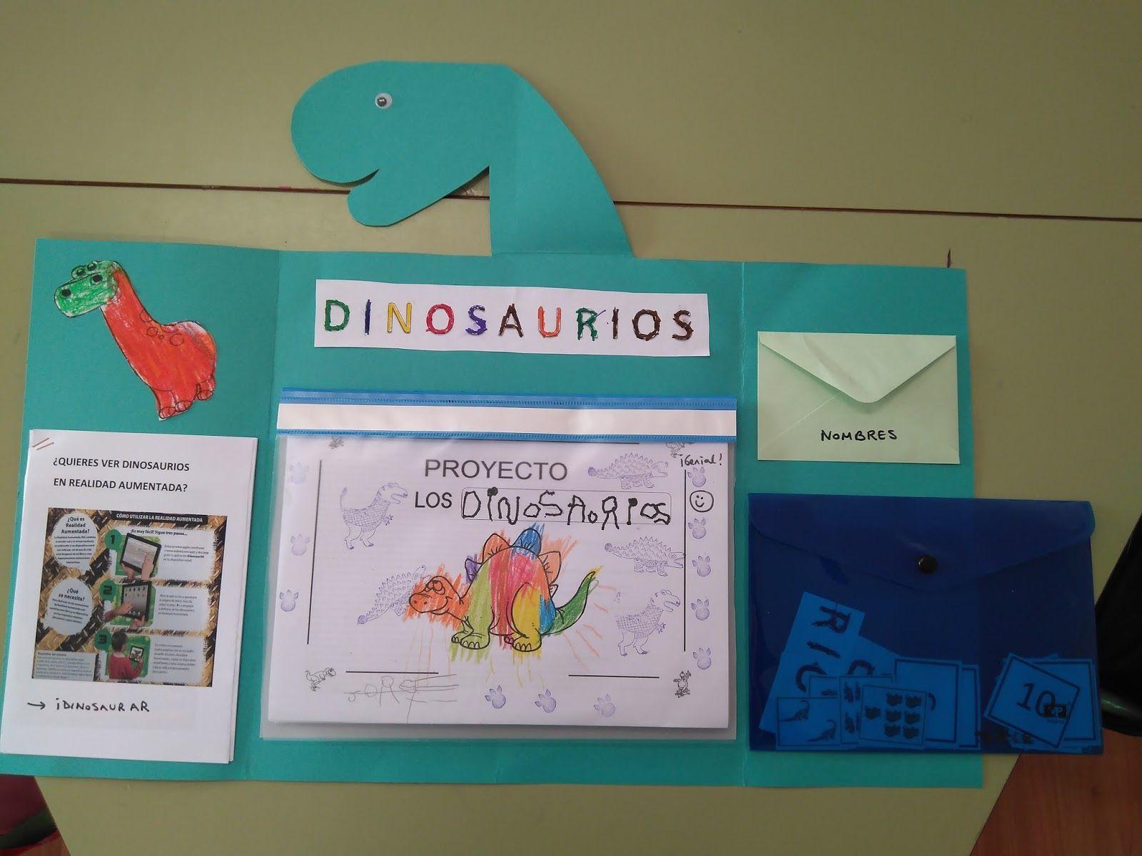 Nos llevamos a casa un lapbook de dinosaurios, que resume el trabajo ...