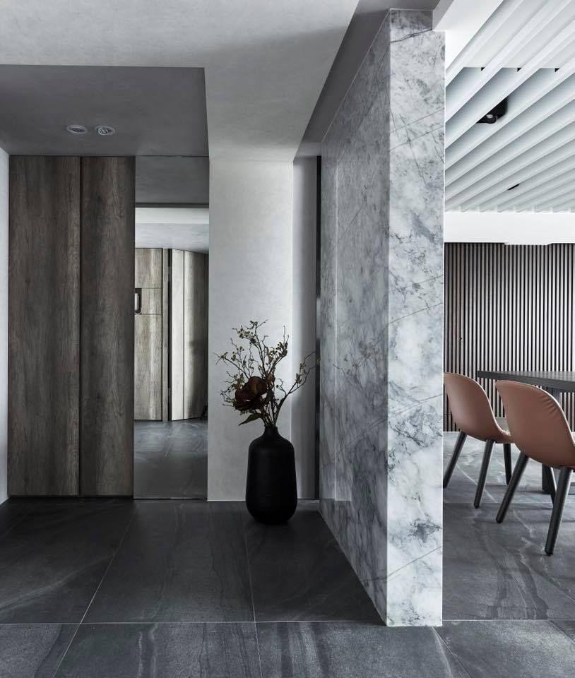 Pin By 浮空設計所float Design Studio On 住宅玄關 鞋櫃設計 Monochrome Interior Apartment Entrance Hallway Designs