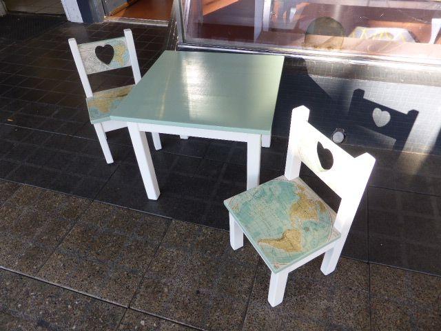 Superb Refurbished Pine Furniture Using Vintage Maps And Non