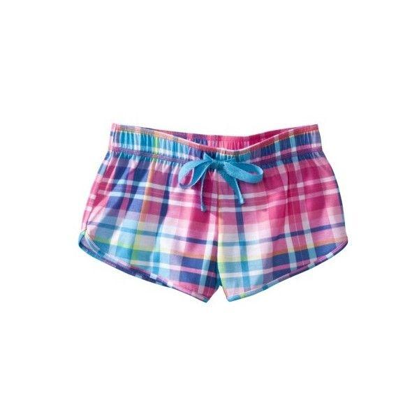 Xhilaration Girls Pajama Short Assorted Colors ($13) ❤ liked on Polyvore featuring shorts, pajamas, bottoms and pijamas