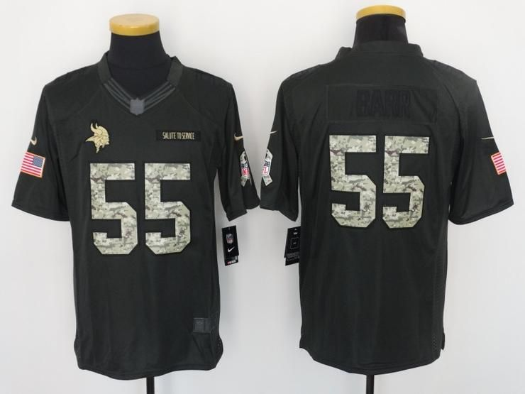 Men 55 Barr Jersey Football Minnesota Vikings Jersey  535b8315b