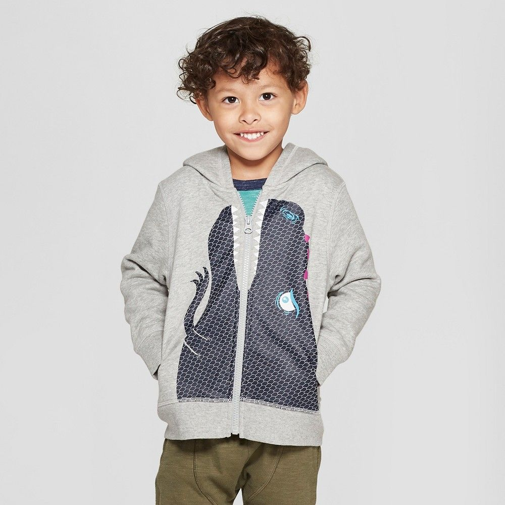 731b1e73d Your little dino fan will love to sport this Zip-Up Dinosaur Hoodie with  Spikes on Hood from Cat and Jack. Complete with a dino face and dino spikes  on the ...