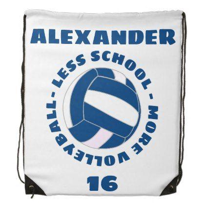 Less School More Volleyball Drawstring Bag Zazzle Com Diy Backpack Drawstring Backpack Backpacks