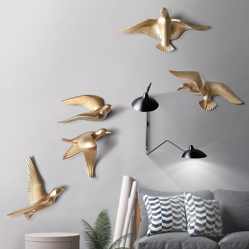 Birds 3d Resin Wall Mount In 2020 Wall Decor Bird Wall Decor Landscape Wall Decor