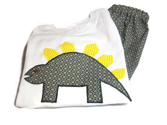 Dinosaur Shirt and shorts Set  Toddler summer by PeaPodLilFrogs