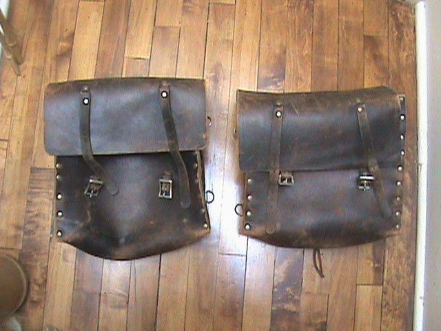 Vintage Motorcycle Saddle Bags Saddlebags Harley Norton Triumph Indian Chief Bobber Style