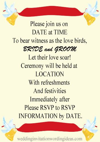 Informal Wedding Invitation Wording Informal Wedding Invitation - invitation format for an event