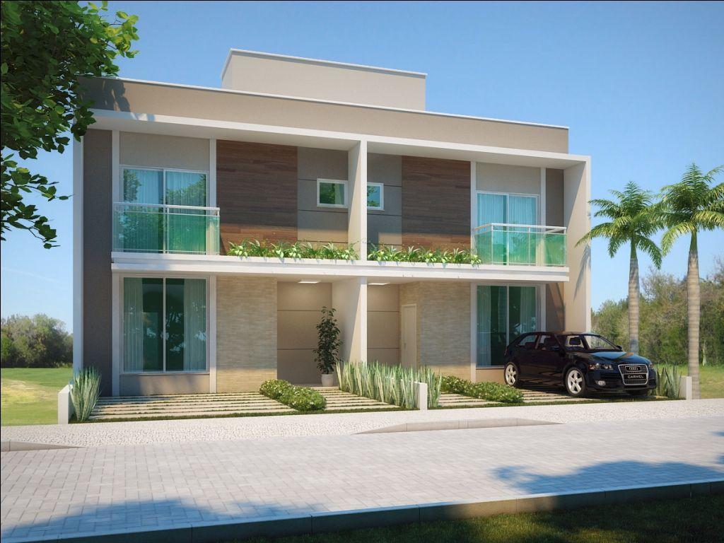 Fotos de fachadas de casas duplex m es geminado e casas for Modelos cielorrasos para casas
