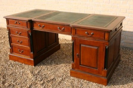 Hand Made Wooden Furniture Desks For Home And Office Use In Chippendale Fluted Military Pillared