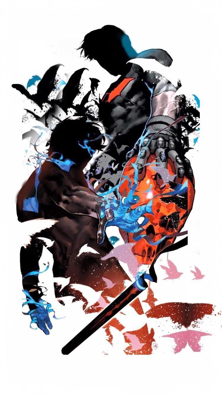 Nightwing And Red Hood Wallpaper Artwork By Yasmine Putri
