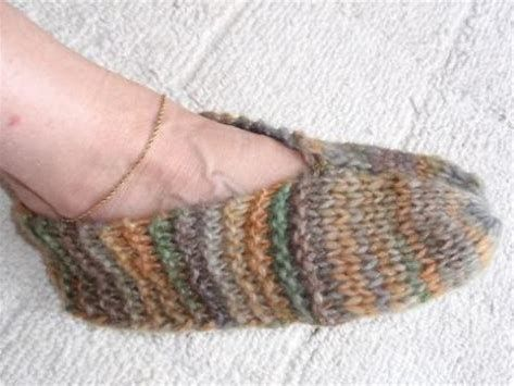 Free Knitting Patterns Easy Slippers Slippers