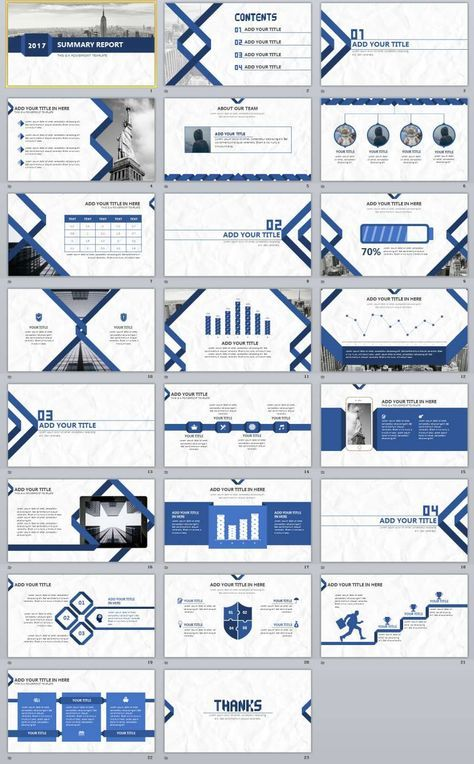 23+ Blue Summary Report PowerPoint templates Presentation Slide - Summary Report Template