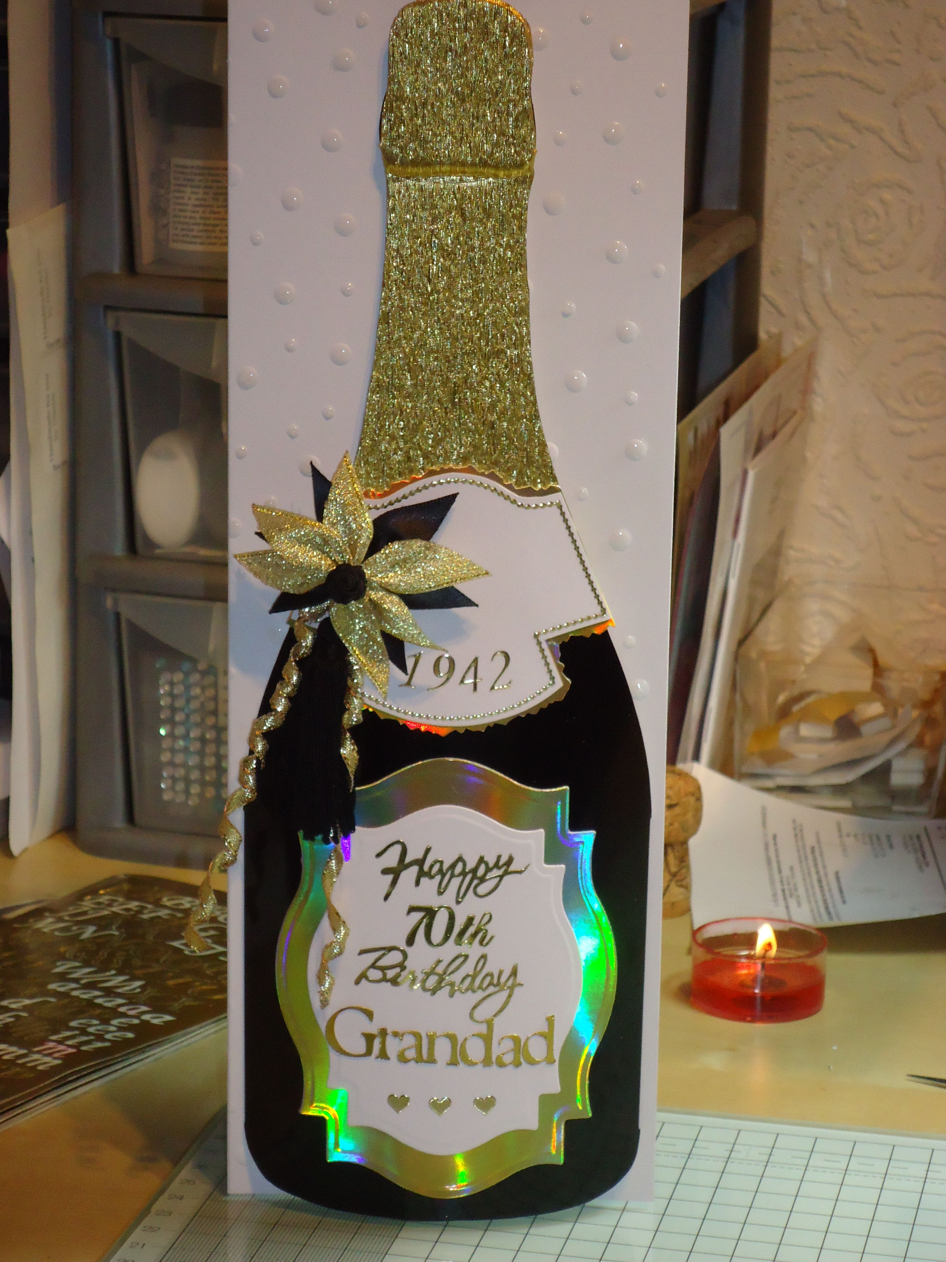 Arty Farty Champagne Bottle Homemade Cards Pinterest Champagne