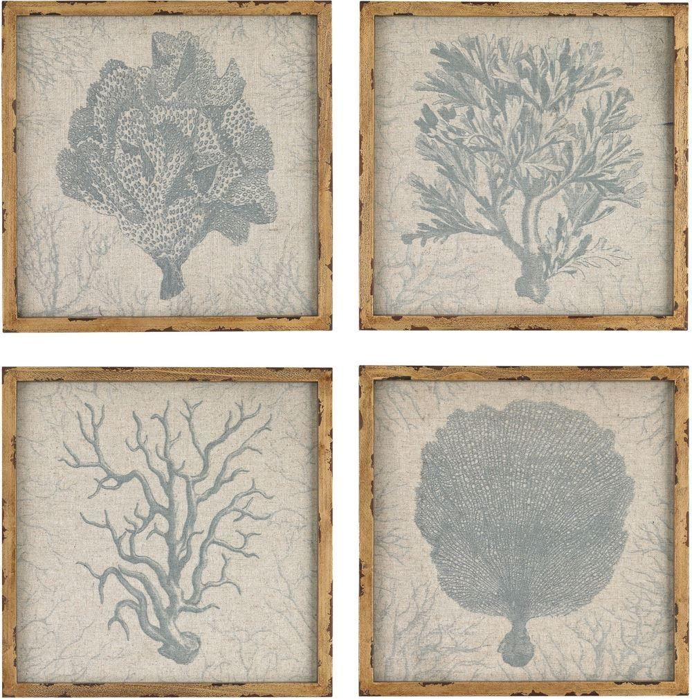 Coral prints on linen products pinterest products