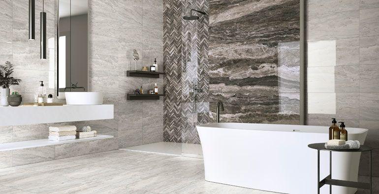 porcelain tile bathroom