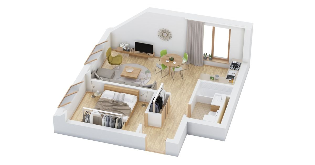 40 More 1 Bedroom Home Floor Plans is part of Modern bedroom Apartment - Take a look at 40 different ways to layout a one bedroom apartment